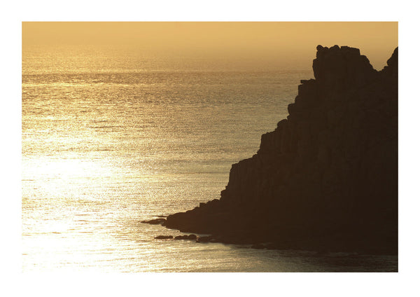 Rock Formation - Cornwall at Sunset