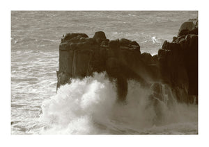 Huge Waves in Storm at Land's End