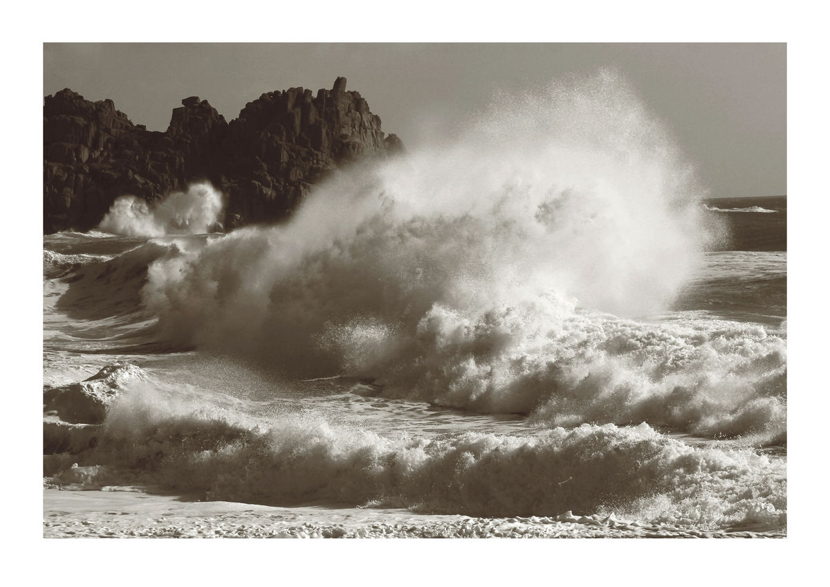 Breaking Wave Near Logan Rock, Porthcurno