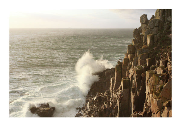 Breaking Wave at Land's End - Cornwall
