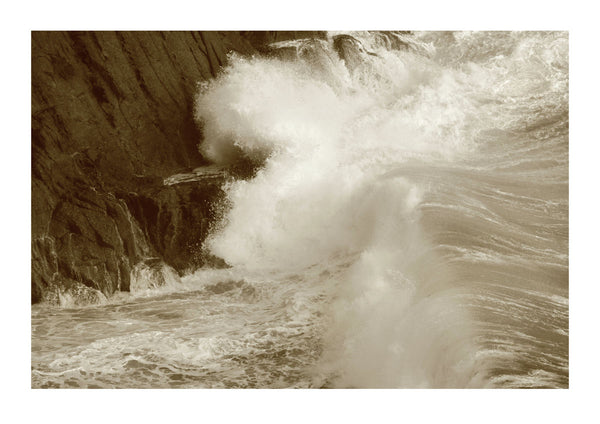 Waves Crashing Against Cliffs - Cornwall