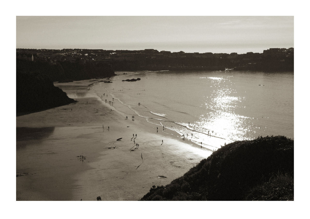 Sunset over Newquay in Cornwall