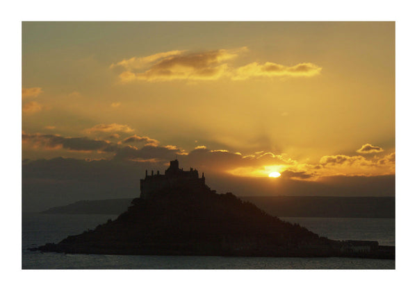 Sunset Over St. Michael's Mount, near Penzance in Cornwall