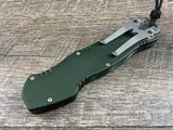 Heretic Knives Hydra Green Stonewash H007-2A-GRN OTF Automatic USA