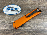 Heretic Knives Manticore E Double Edge DLC H028-6A-ORG Orange OTF Auto USA
