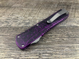 Heretic Knives Manticore X H033-2A-BRKPU Breakthrough Purple Recurve OTF Automatic USA