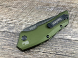 Kershaw Launch 1 Black 7100OLBW Olive Green Automatic USA