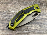 Heretic Knives Medusa H009-4A-GRN Green FDE Flat Dark Earth Tanto Manual USA