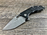 Heretic Knives Medusa H009-5A Black Battleworn Tanto Manual USA