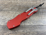 Heretic Knives Hydra Red Tanto Stonewash H006-2A-RED OTF Automatic USA