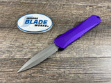 Heretic Knives Manticore E Double Edge Battleworn Purple H028-5A-PU OTF Auto USA