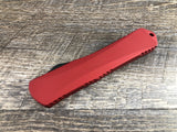 Heretic Knives Manticore X Red Stonewash H032-2C-RED Full Serrated Double Edge OTF Automatic USA