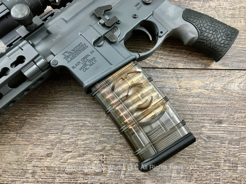 ETS AR15 Magazine 30 Round with Coupler Smoke