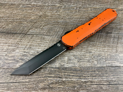 Heretic Knives Manticore X Orange Black Tanto H031-6A-BRKOR OTF Automatic USA