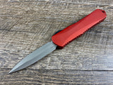 Heretic Knives Manticore E Double Edge Battleworn Red H028-5A-RED OTF Auto USA