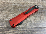 Heretic Knives Manticore E Double Edge DLC H028-6A-RED Red OTF Auto USA