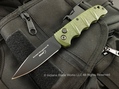 Boker Kalashnikov 74 Automatic Knife Green Black 01KALS02N