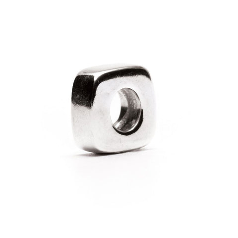 Novobeads Square Spacer, Silver