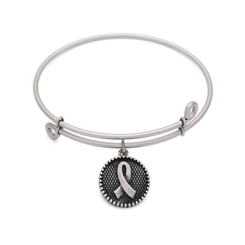 SOL Awareness, Bangle Antique Silver Color Finish