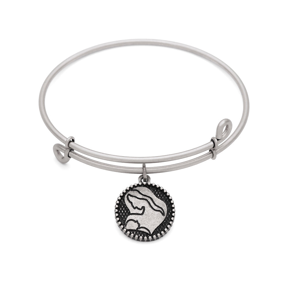 SOL Mother, Bangle Antique Silver Color Finish