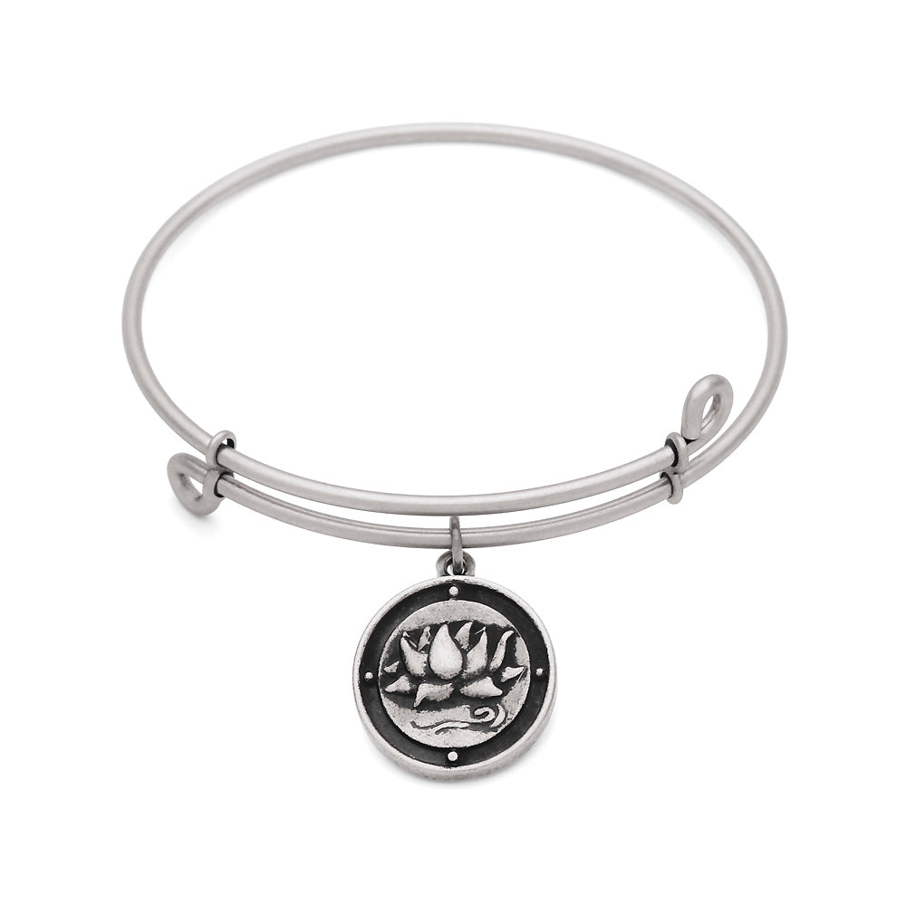 SOL Inner Peace, Bangle Antique Silver Color Finish