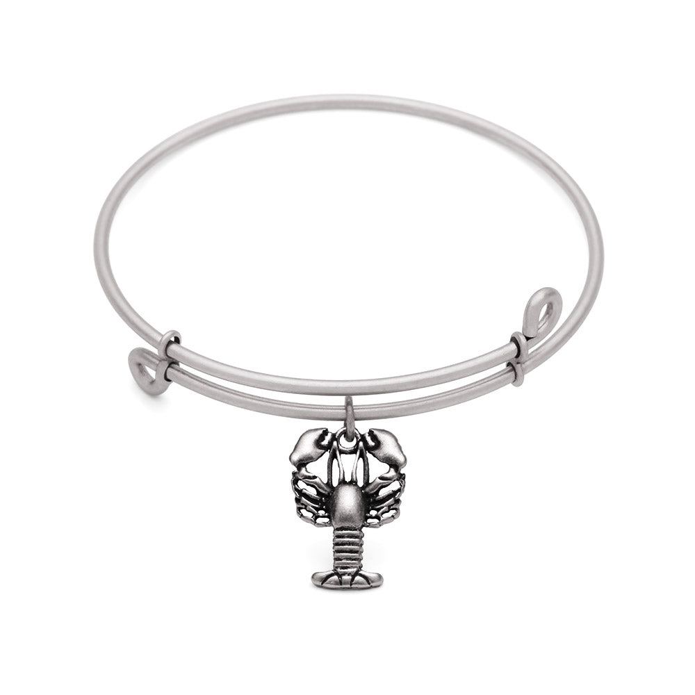 SOL Lobster, Bangle Antique Silver Color Finish