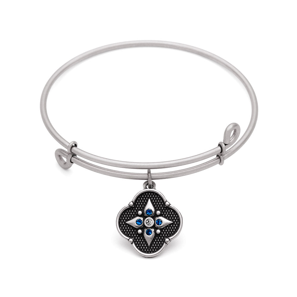 SOL Balance of Mind, Bangle Antique Silver Color Finis