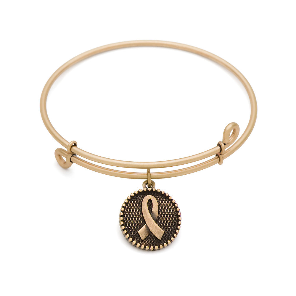 SOL Awareness, Bangle Antique Gold Color Finish