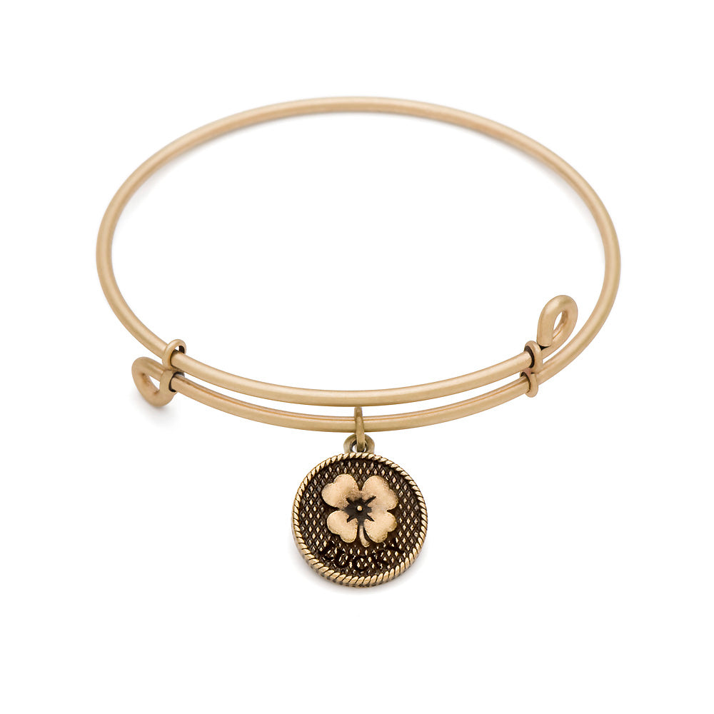 SOL Luck, Bangle Antique Gold Color Finish