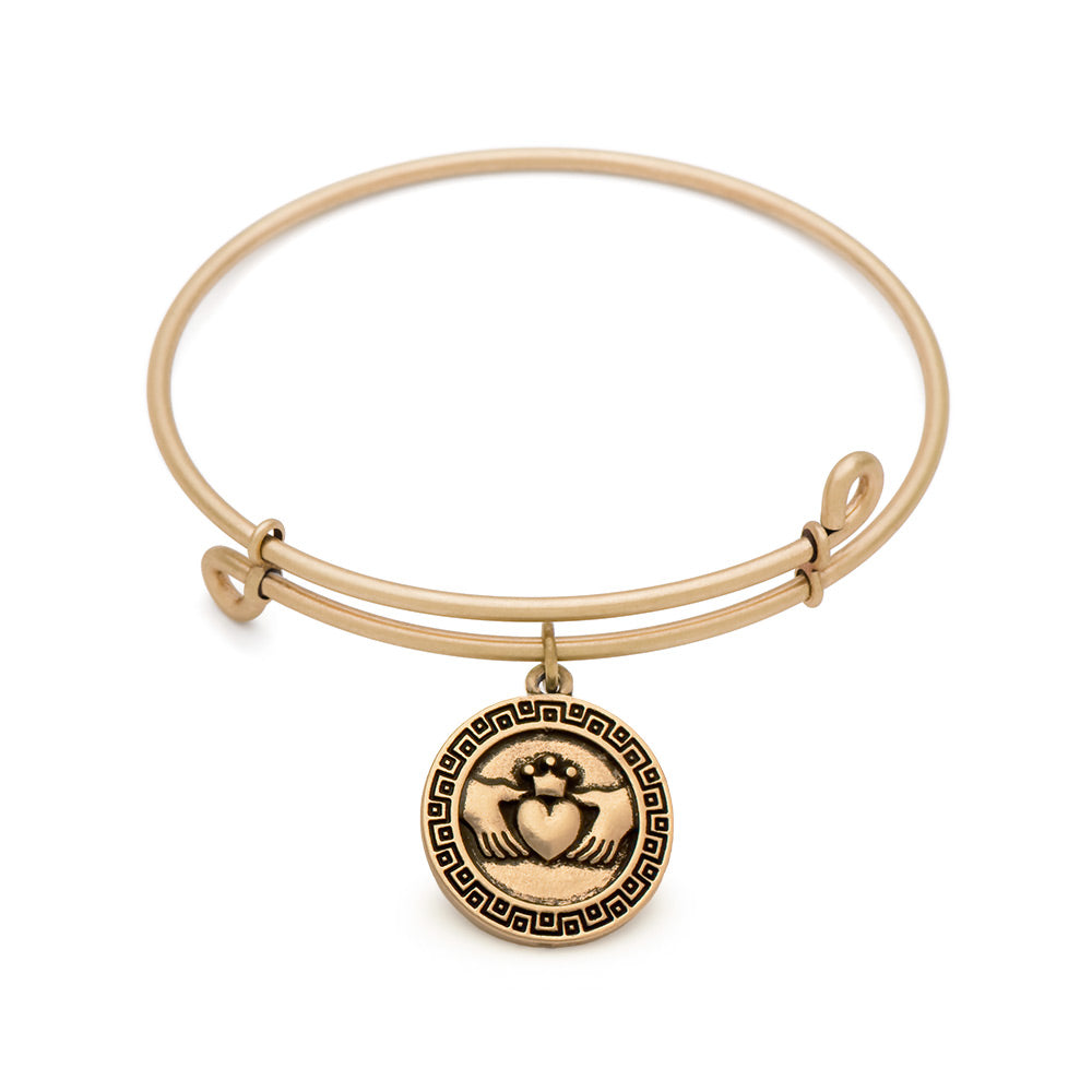 SOL Claddagh, Bangle Antique Gold Color Finish