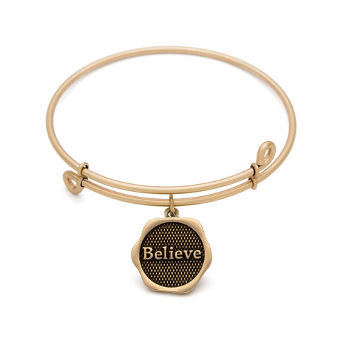 Novobeads Believe, Bangle Antique Gold Color Finish