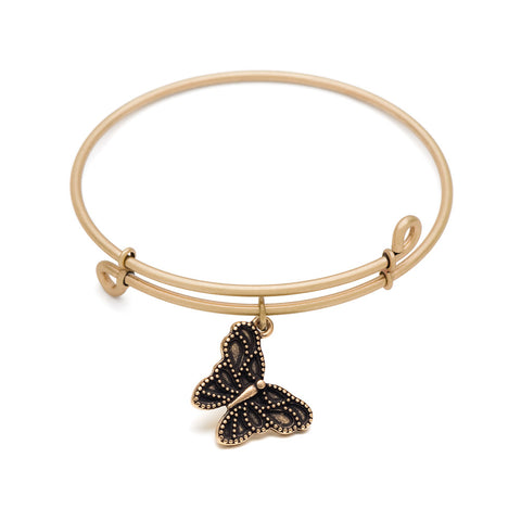 Novobeads Butterfly, Bangle Antique Gold Color Finish