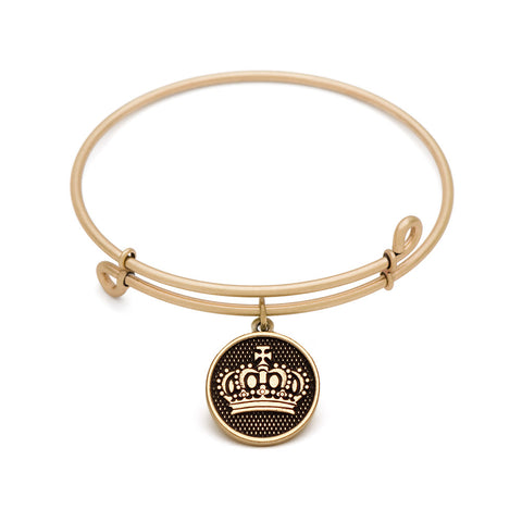 Novobeads Crown, Bangle Antique Gold Color Finish