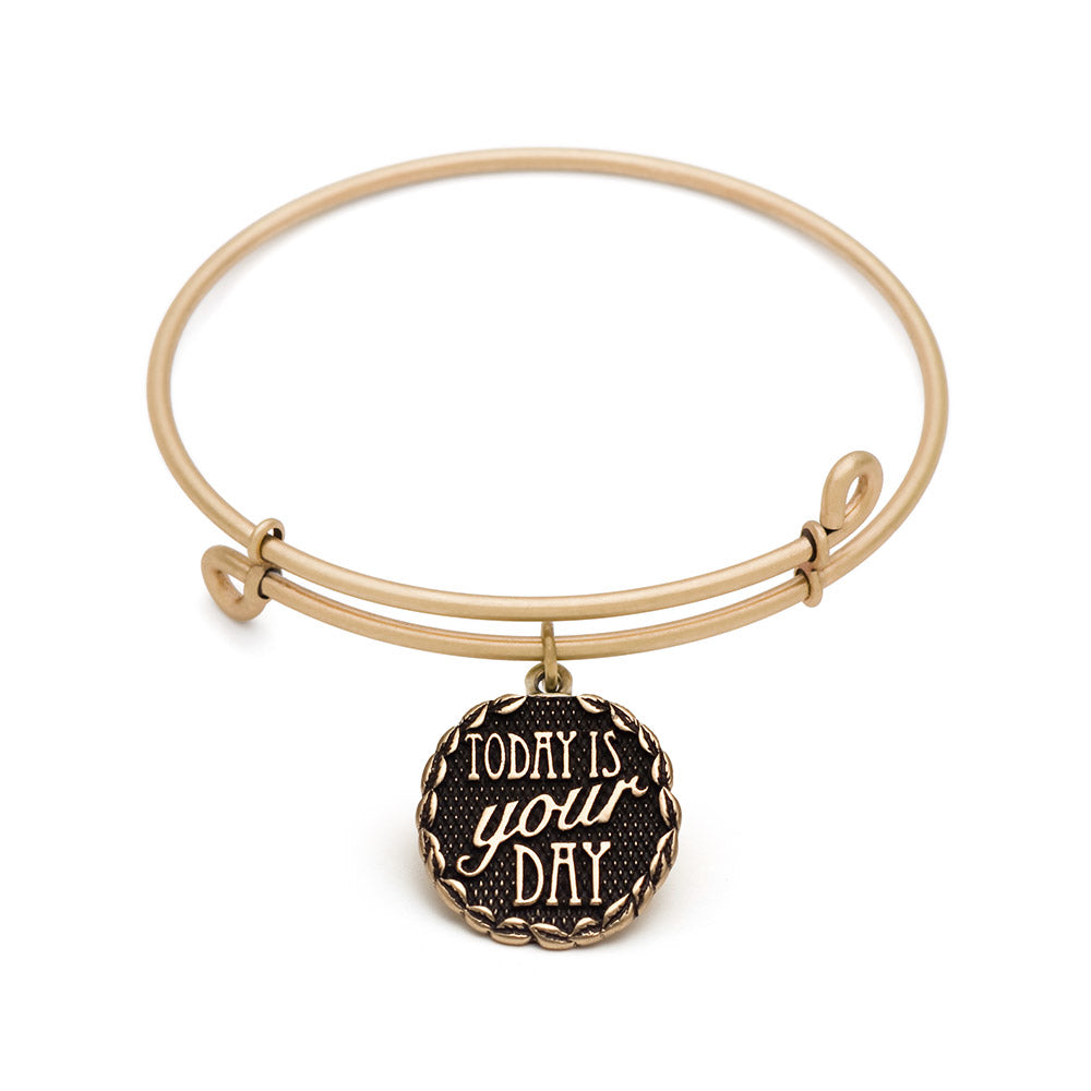 SOL Today is Your Day, Bangle Antique Gold Color Finis