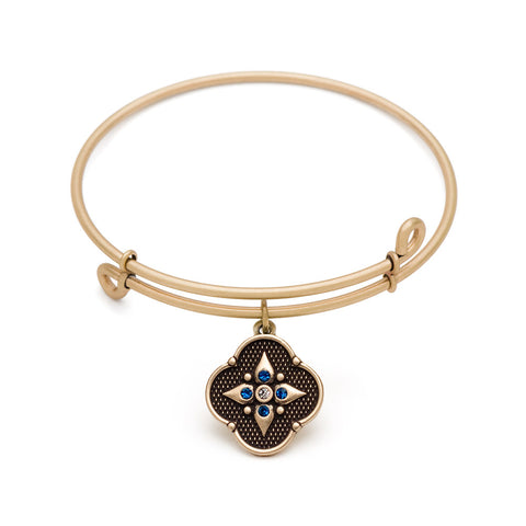 Novobeads Balance of Mind, Bangle Antique Gold Color Finish