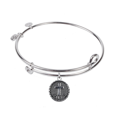 SOL Cross, Bangle Sterling Silver Plated