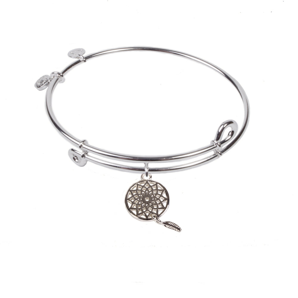 SOL Dream Catcher, Bangle Sterling Silver Plated
