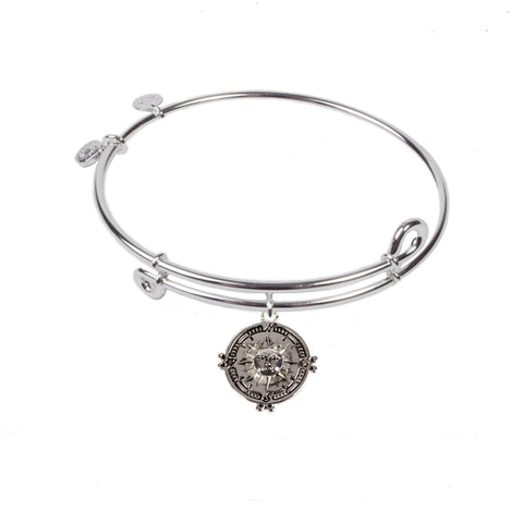 SOL Compass, Bangle Sterling Silver Plated