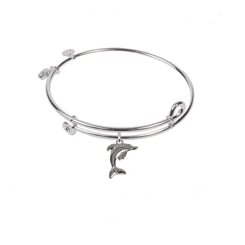 SOL Dolphin, Bangle Sterling Silver Plated
