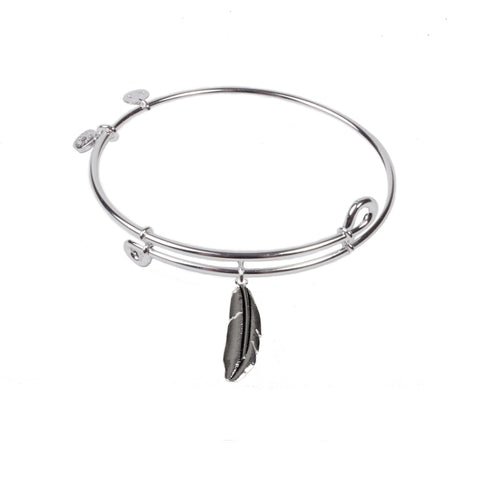 SOL Feather, Bangle Sterling Silver Plated