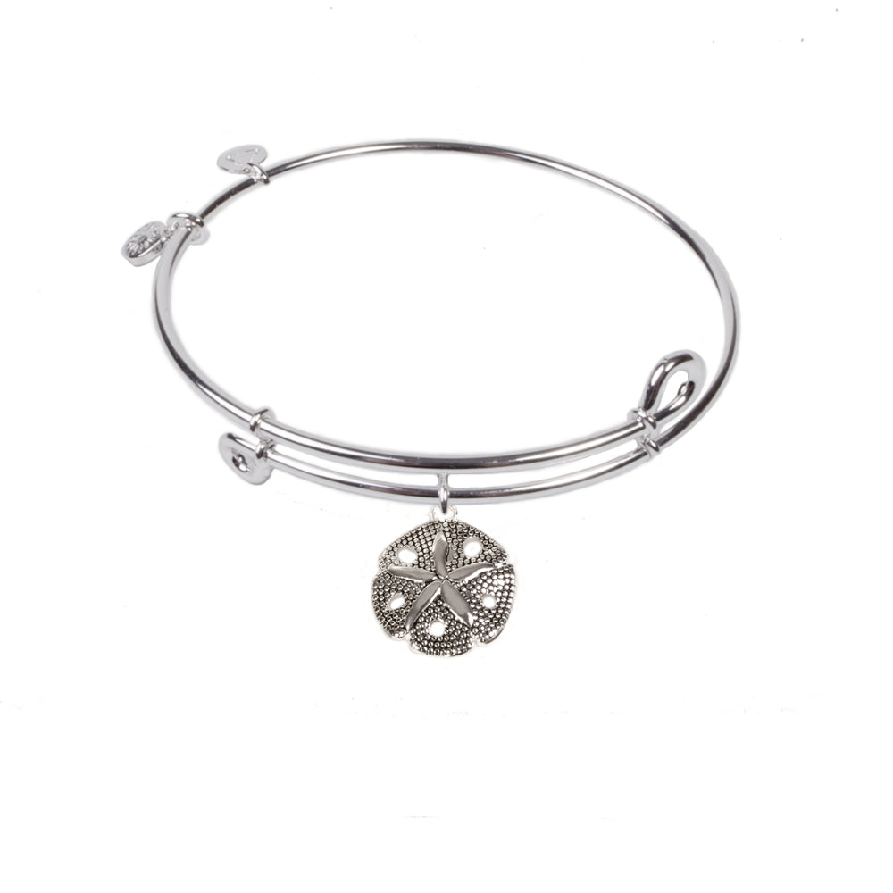 SOL Sand Dollar, Bangle Sterling Silver Plated