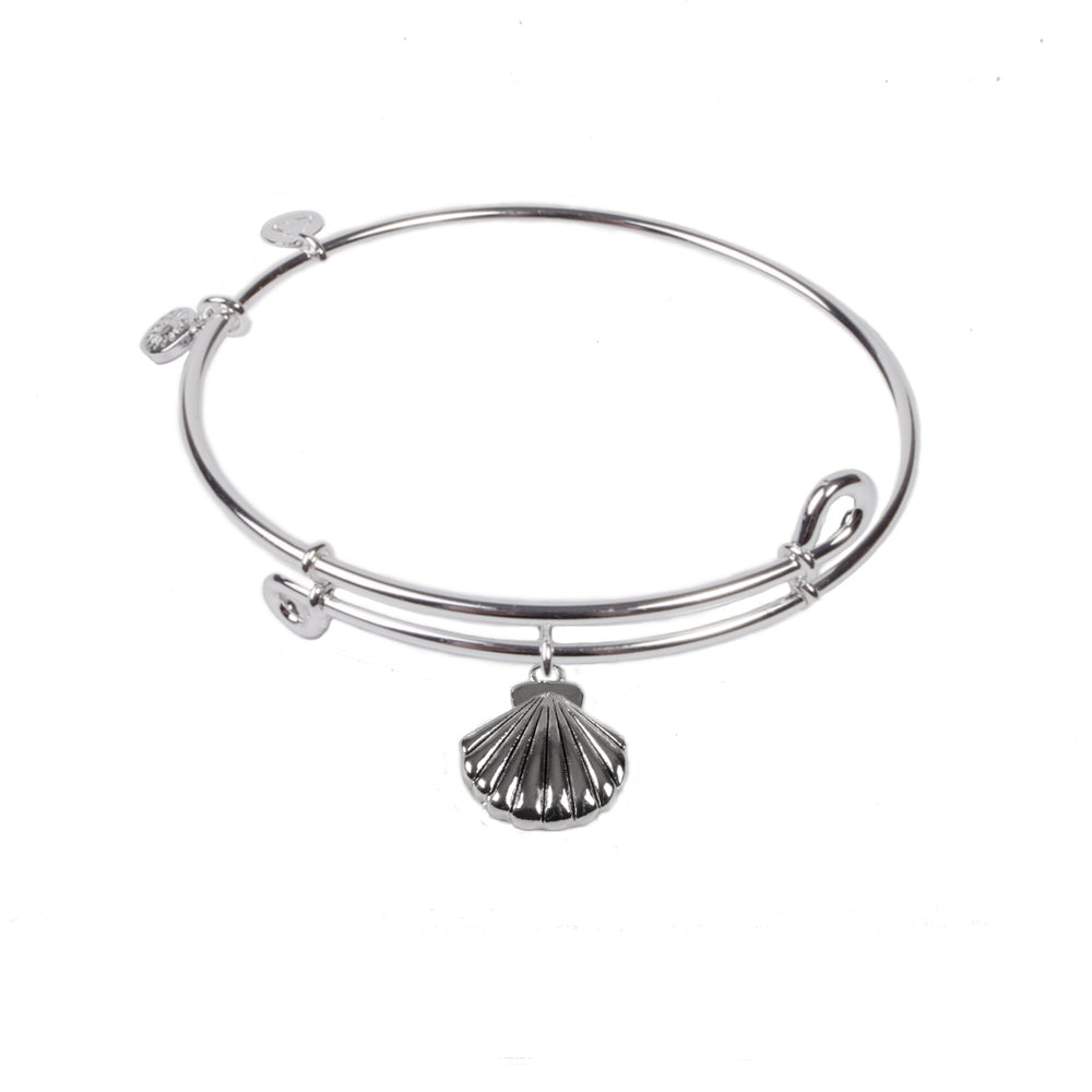 Novobeads Seashell, Bangle Sterling Silver Plated