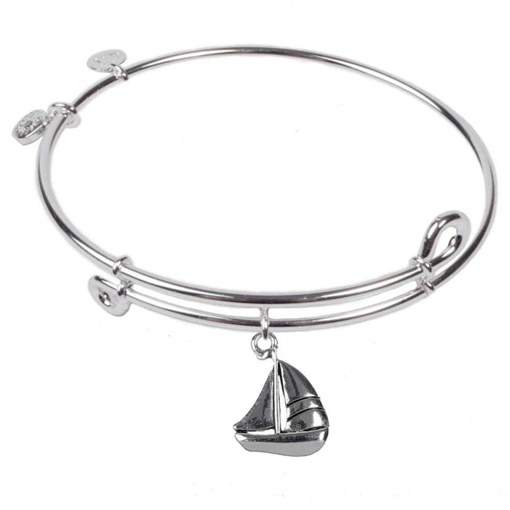 SOL Sailboat, Bangle Sterling Silver Plated