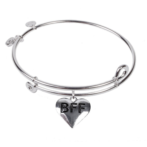 Novobeads Best Friend Forever, Bangle Sterling Silver Plated
