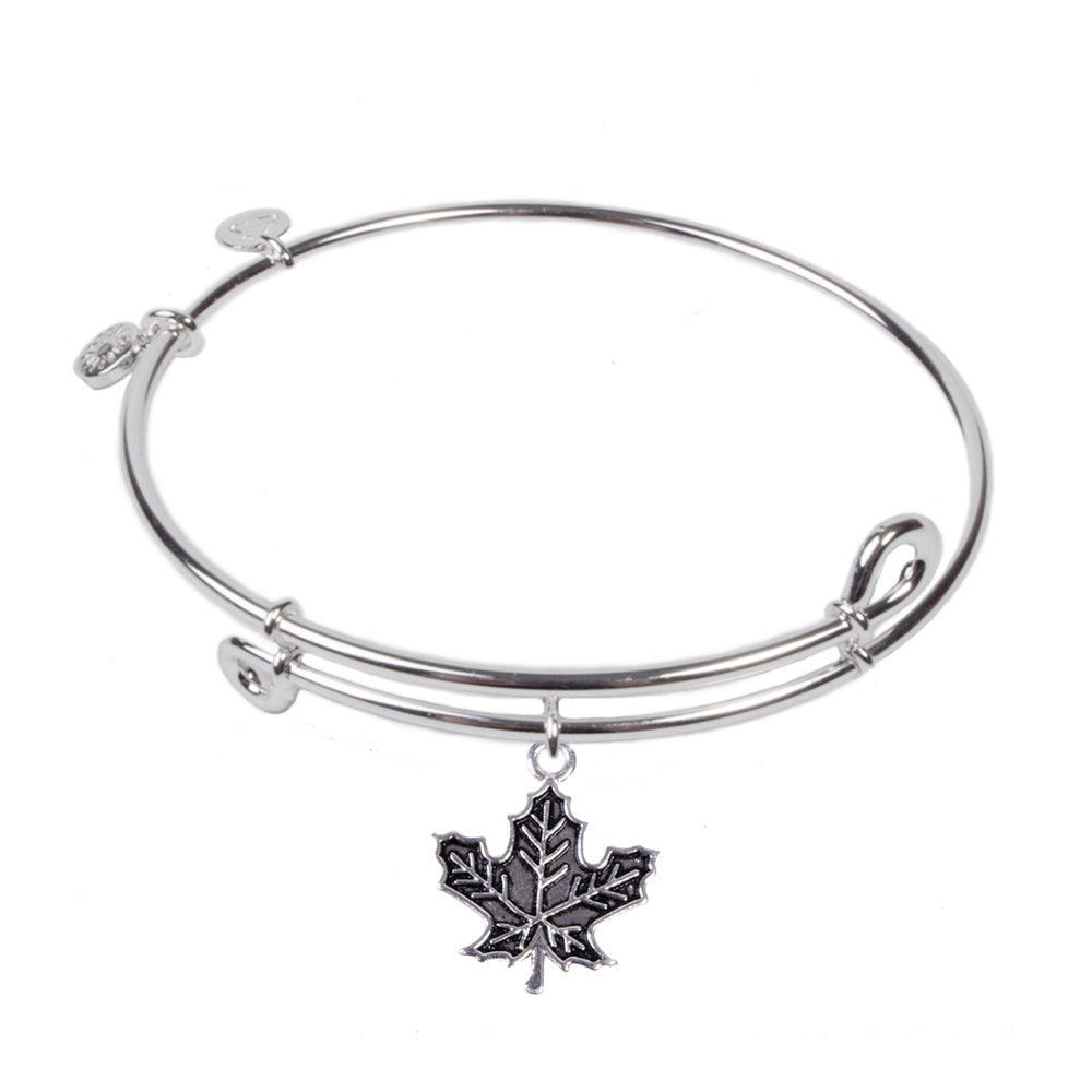 SOL Maple Leaf, Bangle Sterling Silver Plated