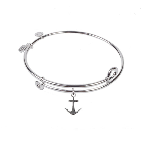 Novobeads Anchor , Bangle Sterling Silver Plated