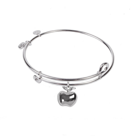 Novobeads Apple, Bangle Sterling Silver Plated