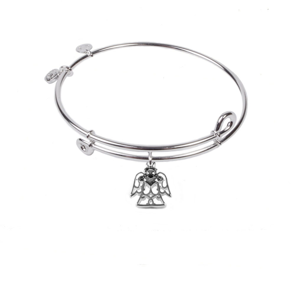 Novobeads Angel, Bangle Sterling Silver Plated