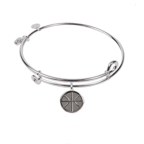 Novobeads Basketball, Bangle Sterling Silver Plated