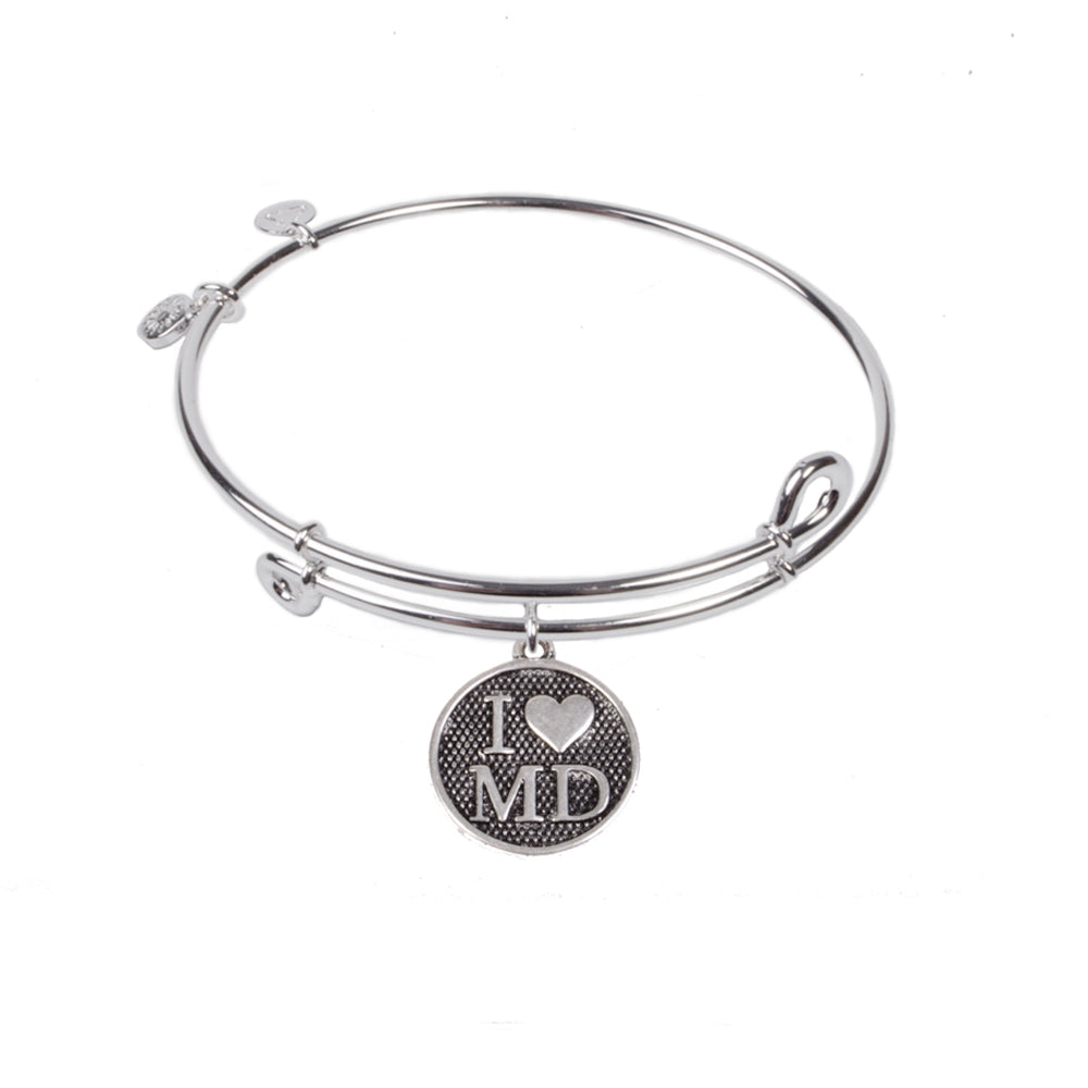 SOL I Love MD, Bangle Sterling Silver Plated